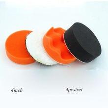 Auto carro almofada de polimento para polidor esponja roda enceramento laranja acessórios do carro polimento disco lavagem manutenção 4 Polegada 100mm
