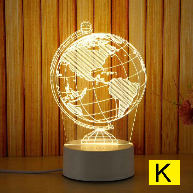 Cartoon Night Light 3D LED USB Dream Soft Light Table Night Light FKU66