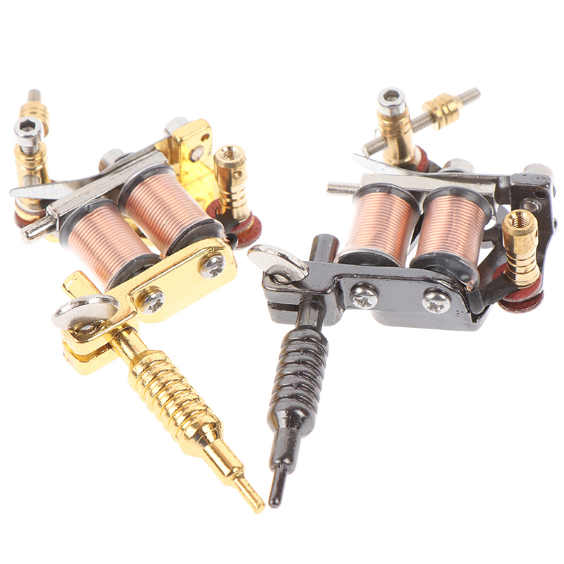 1 PC Portable Mini Tattoo Machine Tattoo Supply Keychain Key Holder Punk Style As Pendant Ornament For Men & Women Gift Crafts