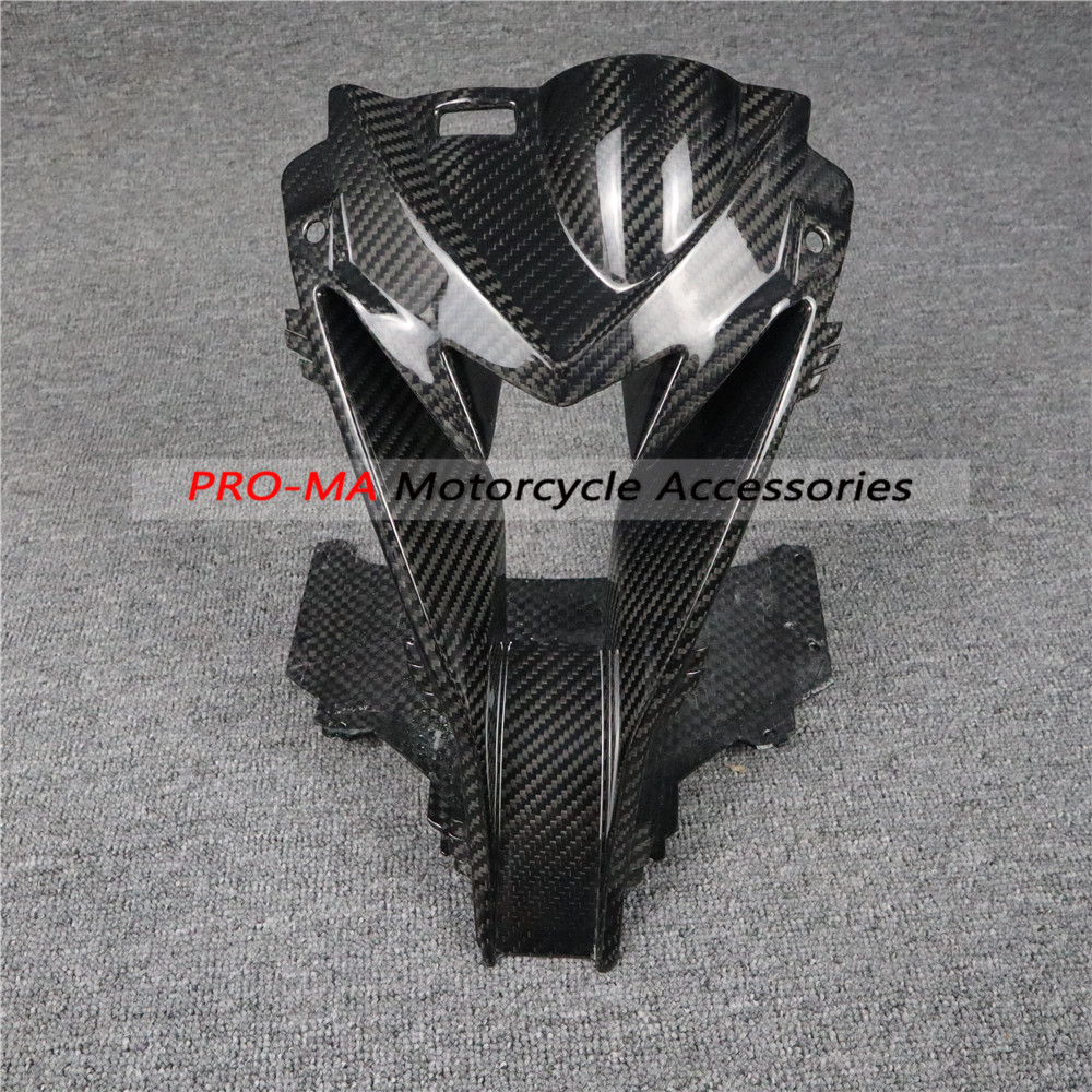 Motorcycle head Middle air inlet front fairing kits in Carbon Fiber For BMW S Series S1000RR 2015+ Twill glossy weave image
