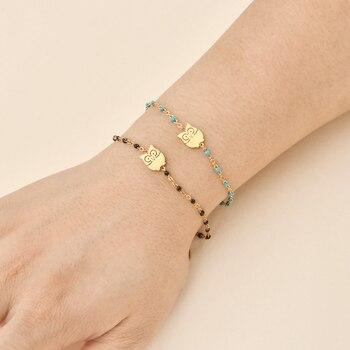 Zmzy fina pulseira de aço inoxidável para mulher charme coruja ouro cor corrente pulseira feminino amante noivado jóias