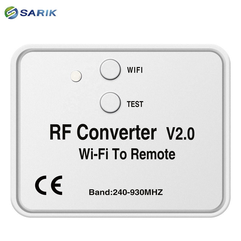 Image 3 - Universal WIFI remote control converter 330 868MHz Android IOS RF WIFI remote control Wi Fi to Remote RF Converter 240~930MHzDoor Remote Control   -
