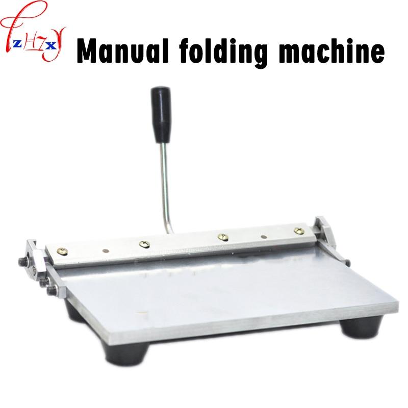 Machine de pliage manuelle Simple de bord sac à main de portefeuille en cuir de 14 pouces avec la Machine de bridage en plastique outils de pliage manuels 1PC