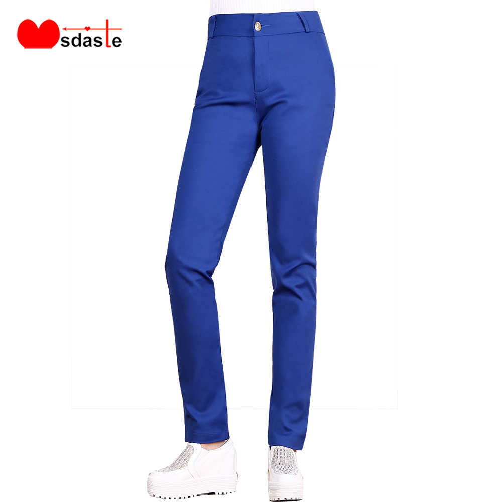 נשים מכנסיים 2020 אביב משרד ליידי עבודה ללבוש חדש אופנה גבירותיי מכנסי עיפרון באיכות גבוהה מקרית נקבה Slim Bodycon מכנסיים
