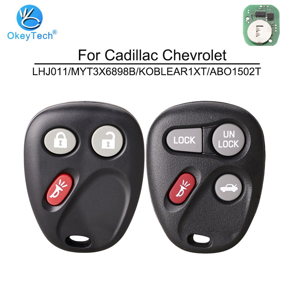 10PCS Keyless Key Case 3 Buttons Pad For Chevrolet GMC LHJ011 WITH BATTERY HOLD
