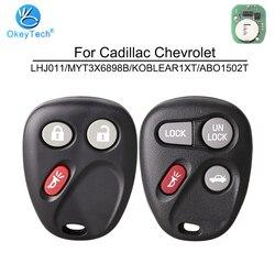 OkeyTech dla G M Chevrolet Avalanche Cadillac эскалейд 3 4 przycisk 315Mhz samochód zdalnie klucz LHJ011 MYT3X6898B KOBLEAR1XT ABO1502T
