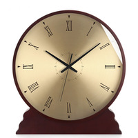 Hot Fashion Wood Table Clock American Simple Mute Living Room Desk Clock Home decoration Bedroom Clock European Table Watch Gift