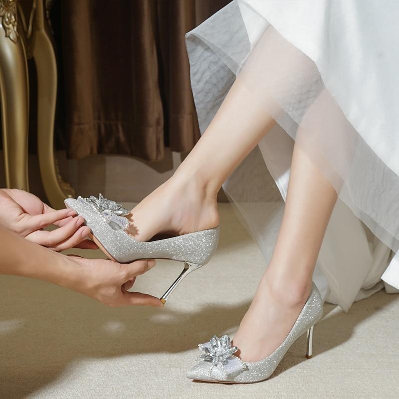 Wedding shoes women 2019 new winter