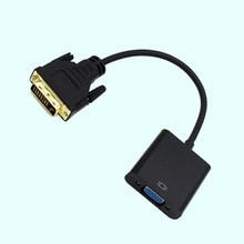 цена на Full HD 1080P DVI-D to VGA Active Adapter Converter Cable 24+1 Pin Male to 15Pin Female Monitor Cable for PC Display Card