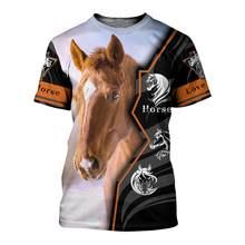 Novo design amor cavalo 3d impresso t camisa harajuku moda verão camisa de manga curta unissex casual camiseta topo transporte da gota
