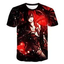 Anime 3D Fairy Tail T-Shirt Boys Girls Short Sleeve T shirt Print Summer Tee Fashion Comic Hip Hop Tops