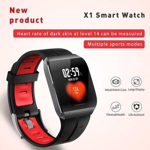 Image 2 - X1 relojes inteligentes IP68 impermeables para nadar hombres mujeres Smartwatch deportivo 30 días Larga modo de reposo tiempo 1,3 pulgadas pulsera de pantalla grande