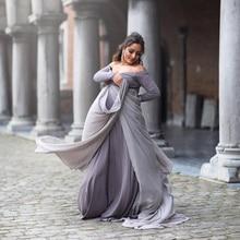 Baby Shower Dress All-purpose Dress Grey Cloak Maternity Long Chiffon Dress Pregnancy Dress Photography Pregnancy Clothes