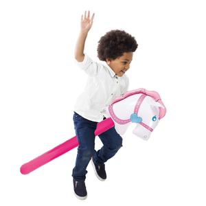 New Inflatable Cowgirl Stick Horse Inflatable Horse Heads Stick Outdoor Educational Toys For Children Babies Birthday Gifts(China)