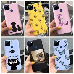 For Oppo Realme C15 Case Realme C15 2020 Cartoon Cover Silicone Shockproof Soft TPU Bumper Housing For RealmeC15 C 15 Back Cover