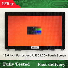 Оригинальный ЖК-дисплей 15,6 дюйма для Lenovo Ideapad U530, сенсорный экран в сборе с рамкой B156HTN03.4 30 контактов 1920*1080 FRU 04X0888