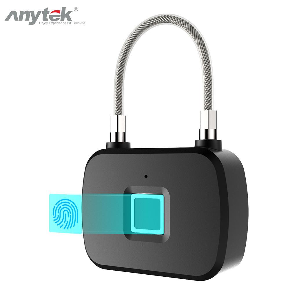 Anytek L13 Keyless Fingerprint Lock Waterproof Smart Fingerprint Lock Anti-Theft Padlock Door Luggage Case Lock For Home Securit