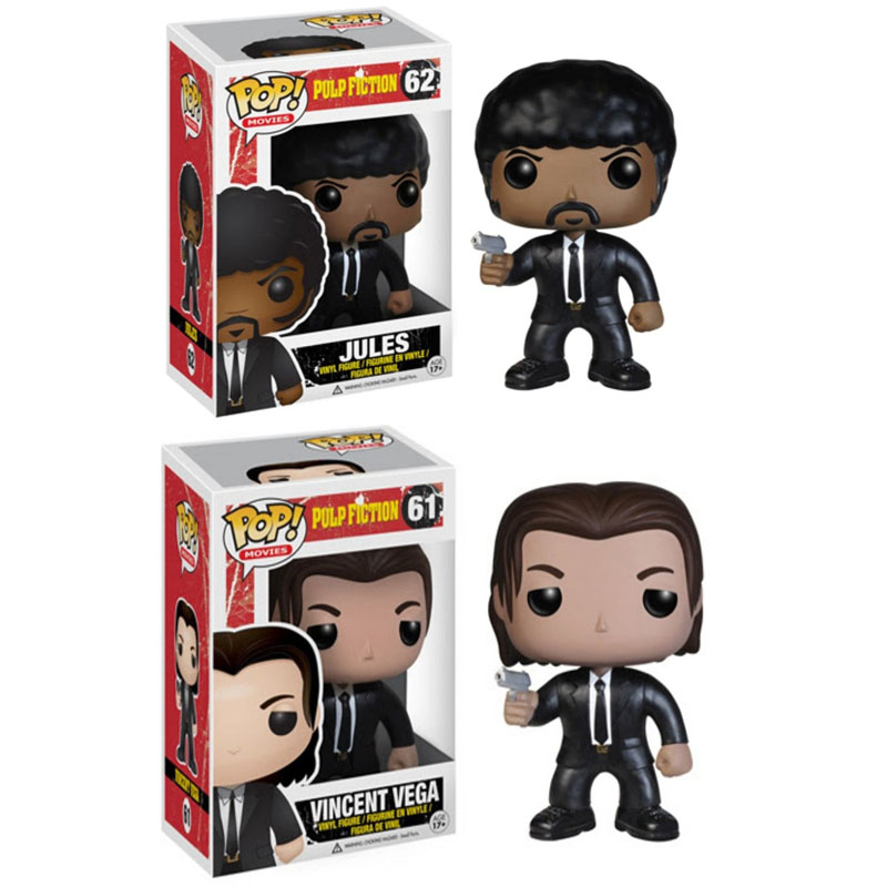 Funko POP Pulp Fiction Jules Vincent Vega Movie Figure Anime Model Pvc Collection Toys For Children Christmas Gift