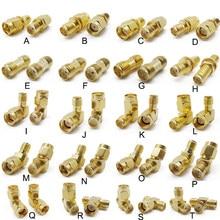 2 pces plug jack sma conector rp sma adaptador de soquete banhado a ouro rf conectores coaxiais sma fêmea terminal masculino