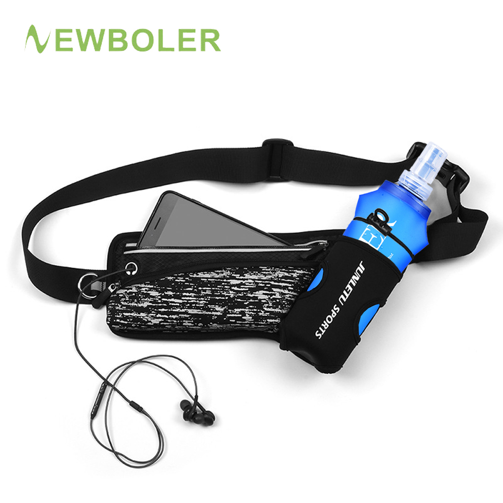 Running Marathon Waist Bag Racing Sports Climbing Hiking Gym Fitness Lightweight Hydration Belt Water Flask Hip Waist Pack