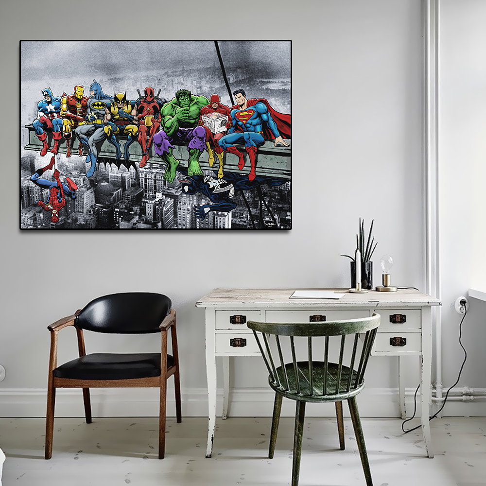 2019 New Top Super Hero Marvel Comics Funny Pop Hot Wall Art Print Poster Canvas Painting Wall Picture Decor No Frame image