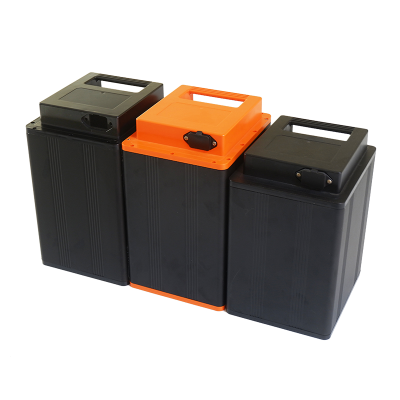 lithium battery case High quality 18650 battery aluminum box with ABS plastic lid for li-ion battery assembly
