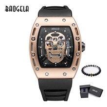 BAOGELA новые мужские часы с черепом, Военные Силиконовые брендовые пиратские полые часы, мужские светящиеся спортивные наручные часы, Relogio Masculino