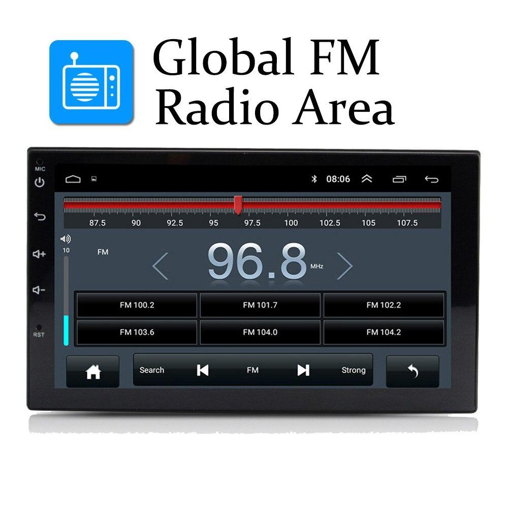 Android 8.1 Auto Radio Stereo GPS Navigation Bluetooth wifi Universal 7 ''2din Auto Radio Stereo Quad Core Multimedia Player Audio
