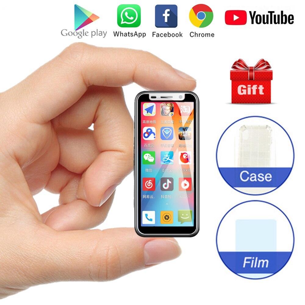 かわいいミニ 4 3g スマート電話メルローズ 2019 アンドロイド 8.1 指紋 ID 超薄型 3.4 インチ MTK6739 1 ギガバイト 8 ギガバイト学生 Childre 携帯電話  グループ上の 携帯電話 & 電気通信 からの 携帯電話 の中 1
