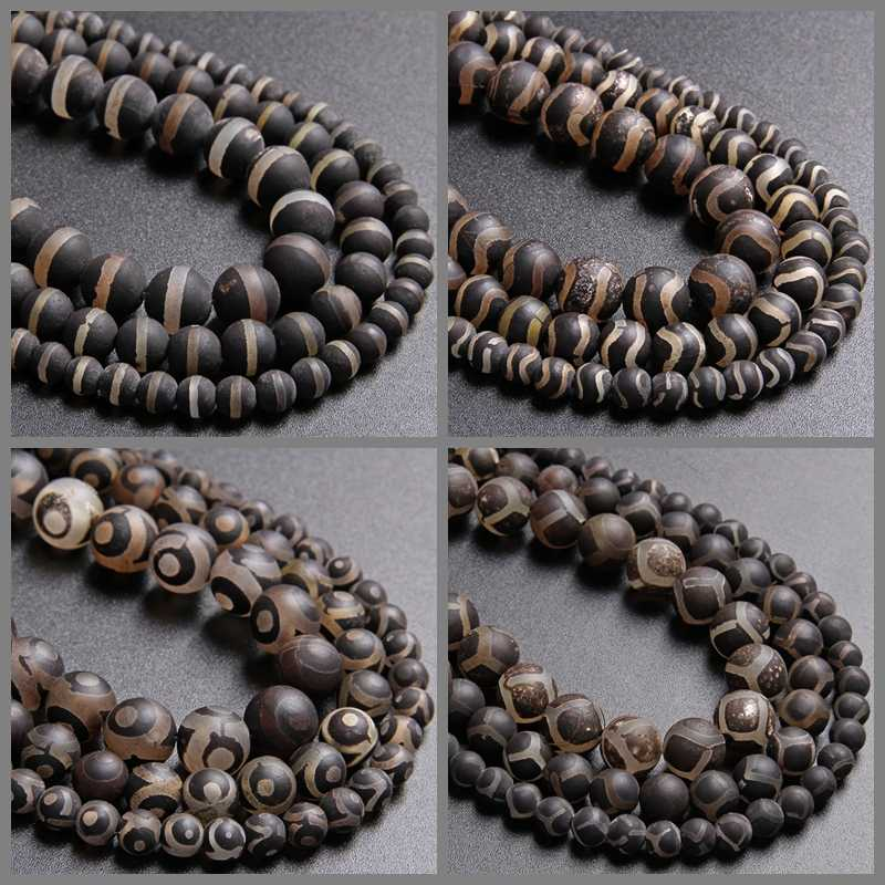 Natural Tibetan Old Agate Grinding Buddhism Buddha Beads Pretty Necklace Pendant
