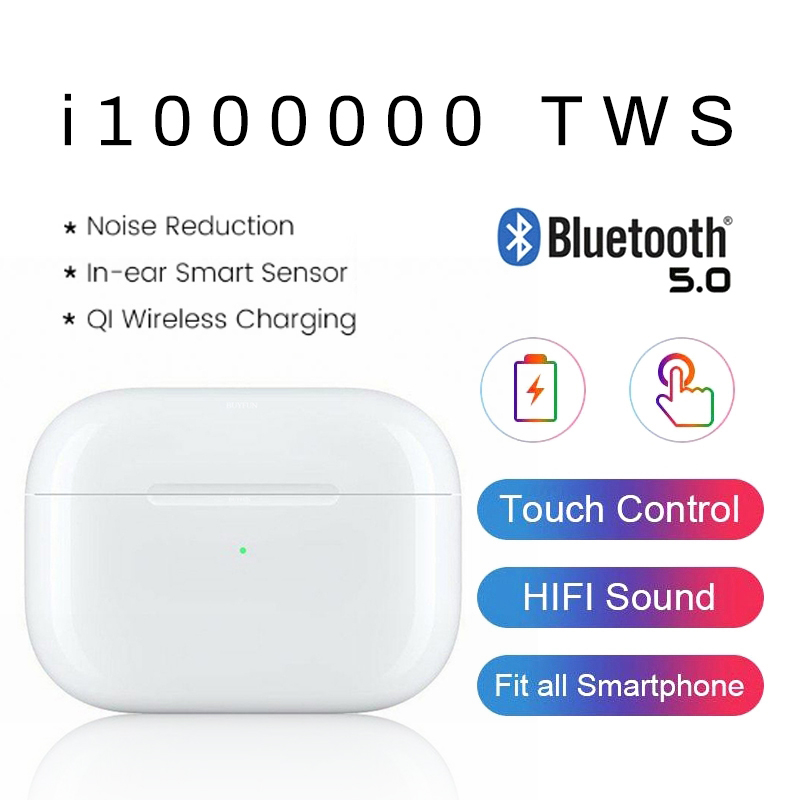 i1000000 tws 1:1 size clone aire 3 wireless earphones <font><b>airpodering</b></font> head phones <font><b>pop</b></font> <font><b>up</b></font> 8d stereo touch control bluetooth headset image