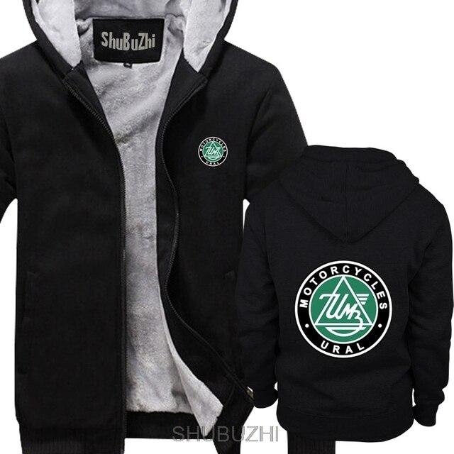 Ural Motorcycles Black hoodie shubuzhi New winter thick hoodies Men brand warm jacket male coat sbz4467