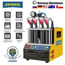 Autool ct160 injector de combustível do carro limpeza de aquecimento & testador máquina de limpeza ultrassônica gasolina injector de combustível 4 cilindros 110v 220v