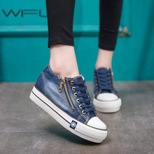 WFL Women Sneakers Fashion Vulcanized Shoes Casual Comfortable Canvas