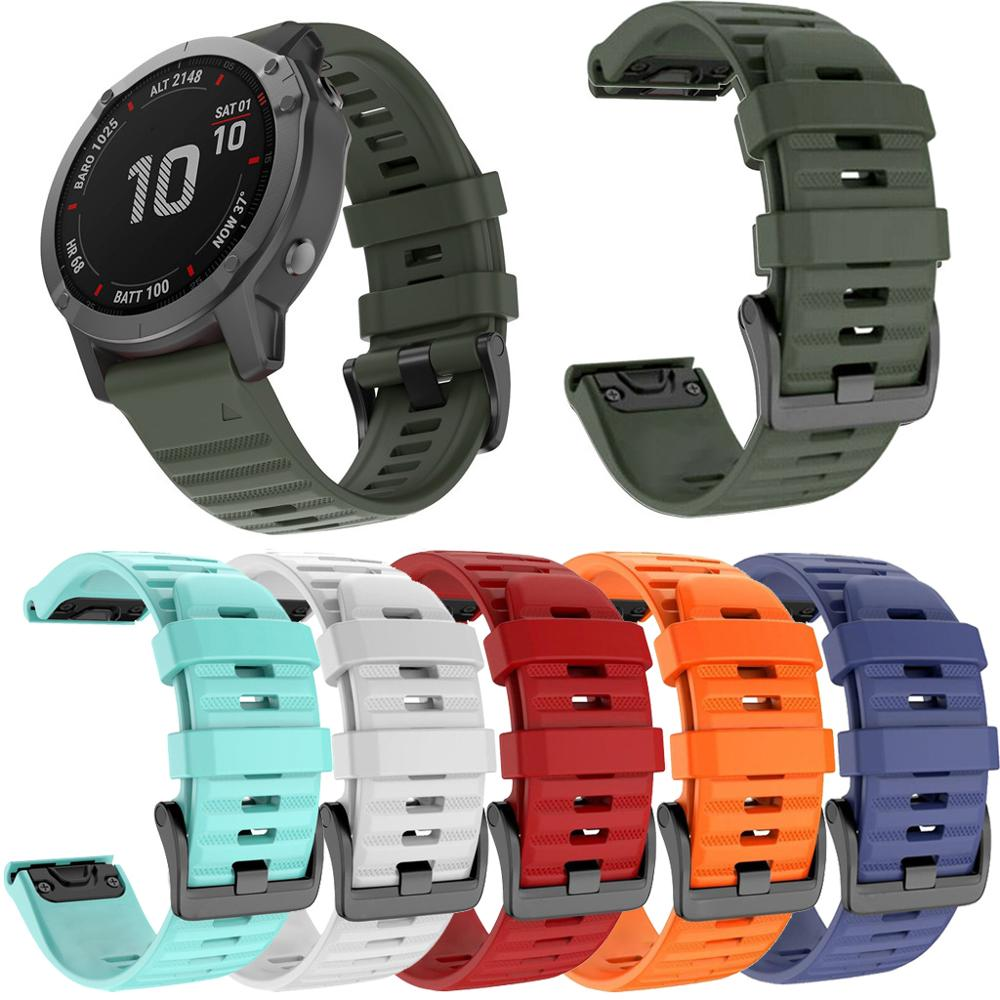 20 26mm Strap Quick Release Silicone Easyfit Replacement Silicagel Soft Band WristStrap For Garmin Fenix 6 6X 6S Pro Smart Watch