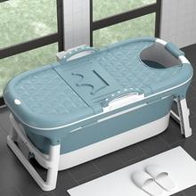 Babyinner 1.45m Folding Bathtub Adult Fold Bath Tub Adults Large Capacity Insulation Collapsible Tub Bath Bucket In Bathroom