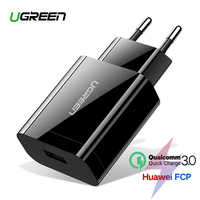 Ugreen Quick Charge 3.0 QC 18W USB Charger QC3.0 Fast Wall Charger for Samsung s10 Xiaomi iPhone Huawei Mobile Phone Charger
