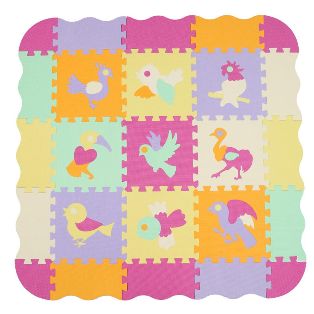 23 Pieces Set Baby Foam Play Mat With Fence - Interlocking Crawling Mat Puzzle Kids Rug Carpet Split Joint EVA Baby Play Mat
