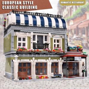 Image 2 - Yeshin MOC şehir sokak oyuncaklar uyumlu restoran yaratıcı oyuncaklar yapı taşları çocuk noel hediyesi
