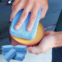 Car Accessories Interior Car Wash Cleaning Waxing Polishing Sponge Motorcycle Auto Microfiber Block Maintenance Tools Pendant(China)