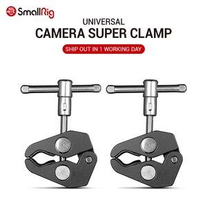 SmallRig Aluminum Alloy Dual Crab Pliers Clip Super Clamp For DSLR Rig LCD Monitor Studio Light Magic Arm Camera(China)