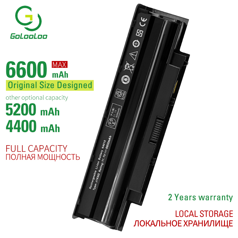 Golooloo 6 Cells Laptop Battery For Dell N7010D N7010R Vostro 1440 1450 1540 1550 3450 3550 04YRJH 06P6PN 07XFJJ 312-0233