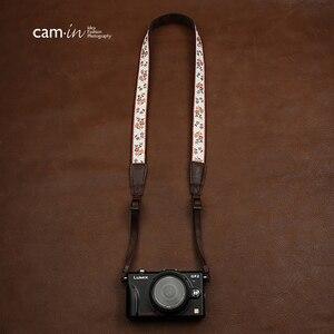 Image 5 - Cam7547 الرقمية SLR شريط كاميرا لينة الصينية نمط المطرزة نسيج القطن أشرطة أكتاف وعنق السيدات