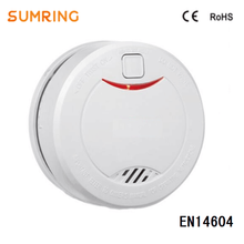 Smoke Detector 10 Years Lifespan Sealed Lithium Battery Operated with EN14604 Fire Alarm