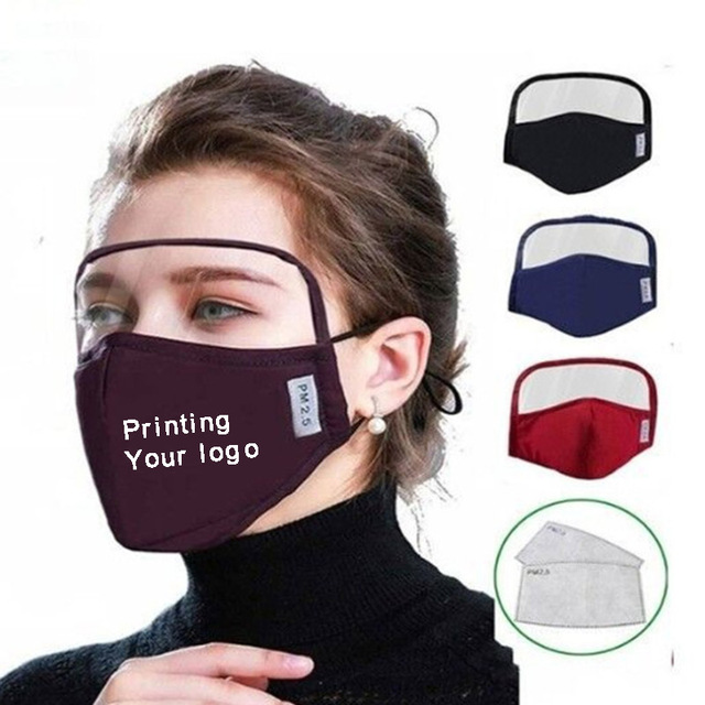 2pcs a lot Cotton Adult mouth Mask Big Face Custom Printing LOGO mask Windproof Mouth-muffle bacteria proof Flu Face masks Care 5
