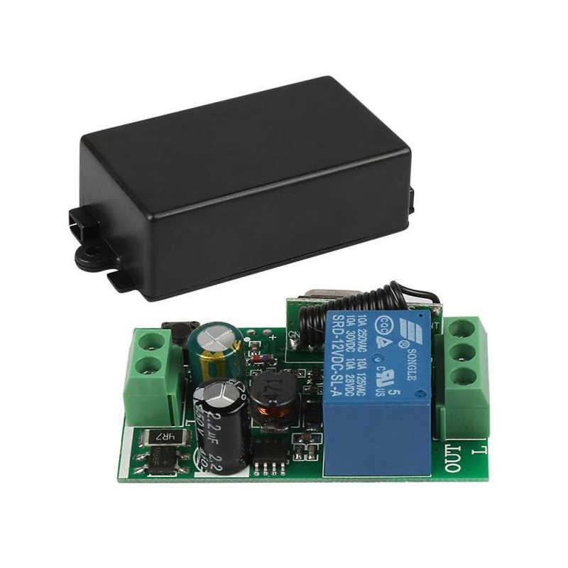 QACHIP 433 MHz ไร้สายรีโมทคอนโทรล AC 85V ~ 250V 110V 220V 1CH รีเลย์ตัวรับสัญญาณโมดูล + RF Transmitter สำหรับโรงรถประตู