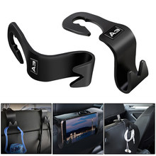 Gancho multifuncional do assento do abs do gancho do automóvel de 2 pces para acessórios novos do automóvel de audi a3 2005-2019