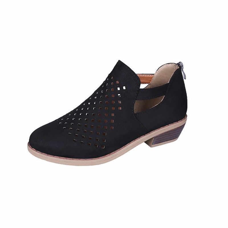 2020 Phụ Nữ Nóng Bỏng Thoải Mái Bơm Giày Nữ Thời Trang 2019 Phong Cách Mới Cho Nữ Trơn Trượt Trên Hollowing Ra Thông Thoáng Máy Bơm