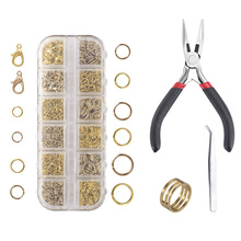1424pcs Closed loop Handmade Combination Suit DIY Fashion Jewelry Findings Making Box Tool Beads Accessories