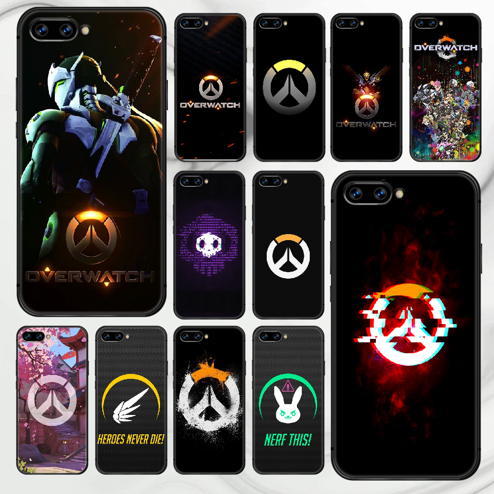 Overwatch OW game Phone Case Cover Hull For HUAWEI honor 7a 8s 8a 8x 9 9x 10 20 i Lite Pro black Prime Trend Hoesjes Soft Cell
